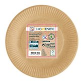 Homeside Assiettes plates kraft Homeside 23cm - x50