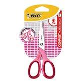 Bic Paire de ciseaux Comfort Bic Rose - 13cm