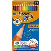 Bic Crayons couleurs Bic Kids x12