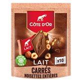 Côte d'Or Chocolat Carrés Côte d'Or Lait noisette - 200g