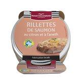Les Mouettes d'Arvor Rillette saumon Mouette d'Arvor Citron Aneth - 125g