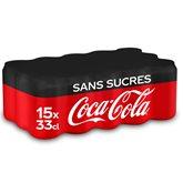 Coca Cola Canettes Coca-cola Zéro Soda sans sucre - 15x33cl