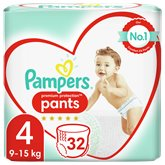 Pampers Culottes Pampers Premium Protection T4 : 8/14kg - x32