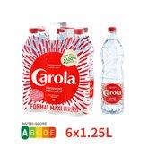Carola Eau gazeuse Carola rouge Pétillante - 6x1,25L